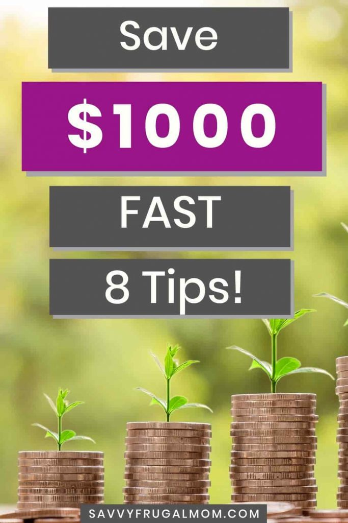 8 tips to save $1000 fast