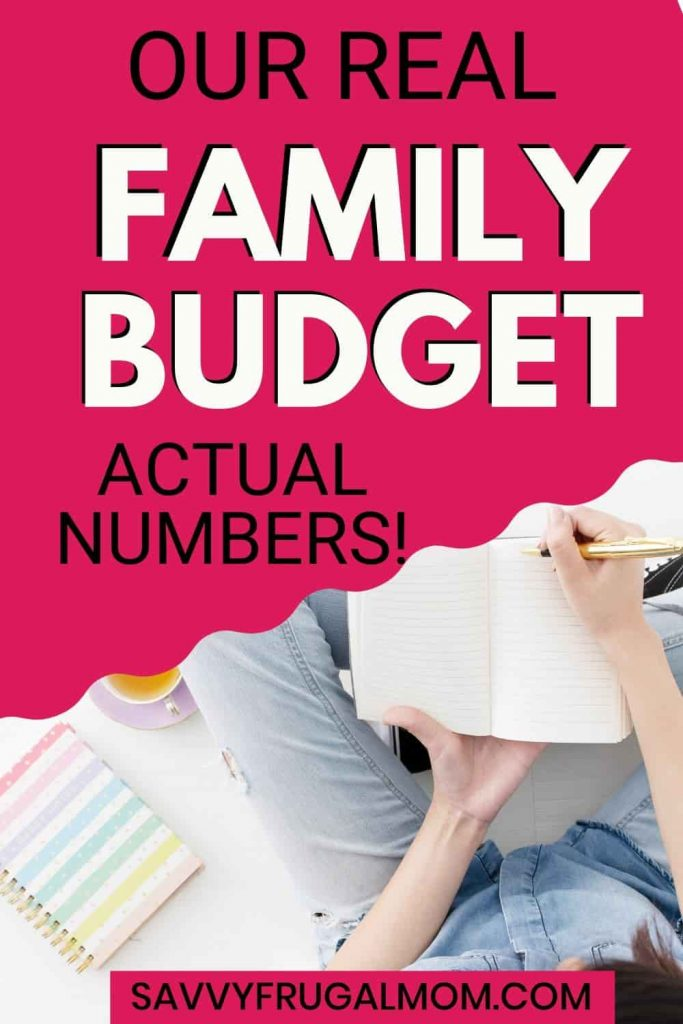 SAMPLE FAMILY BUDGET WITH ACTUAL NUMBERS