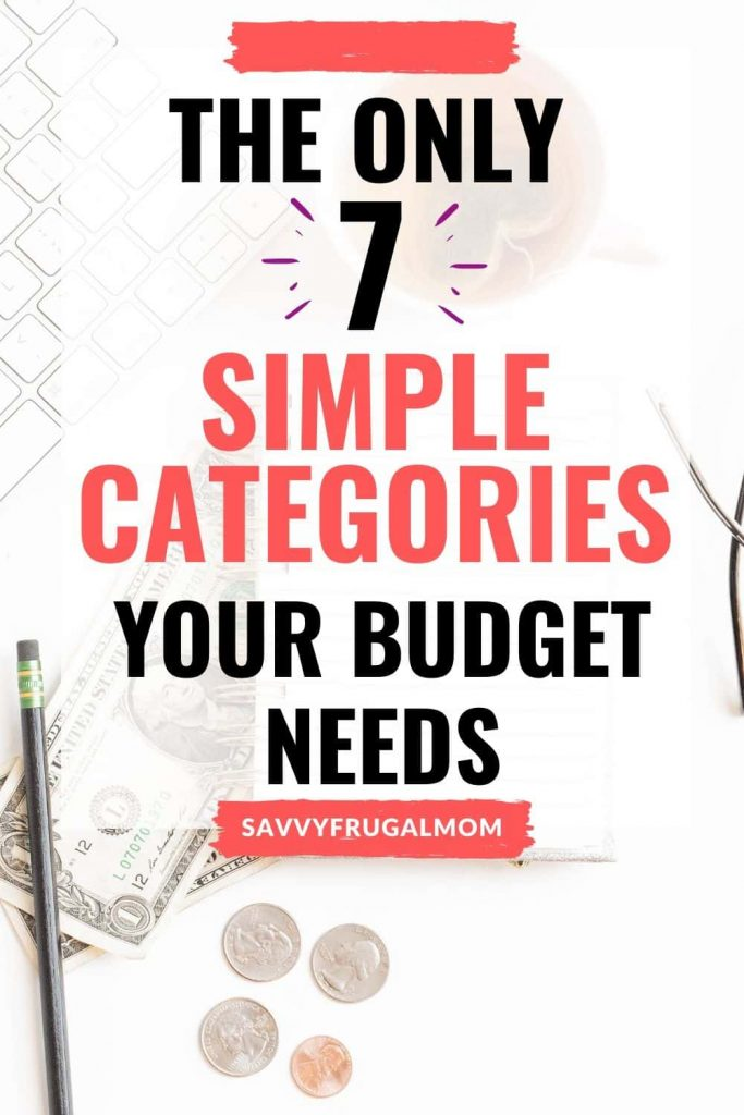 7 simple budget categories