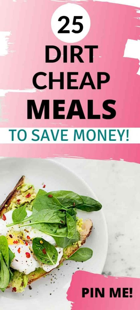 dirt cheap meals to save money