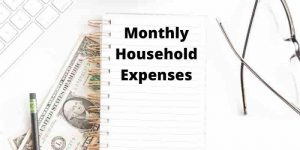 example of household expenses