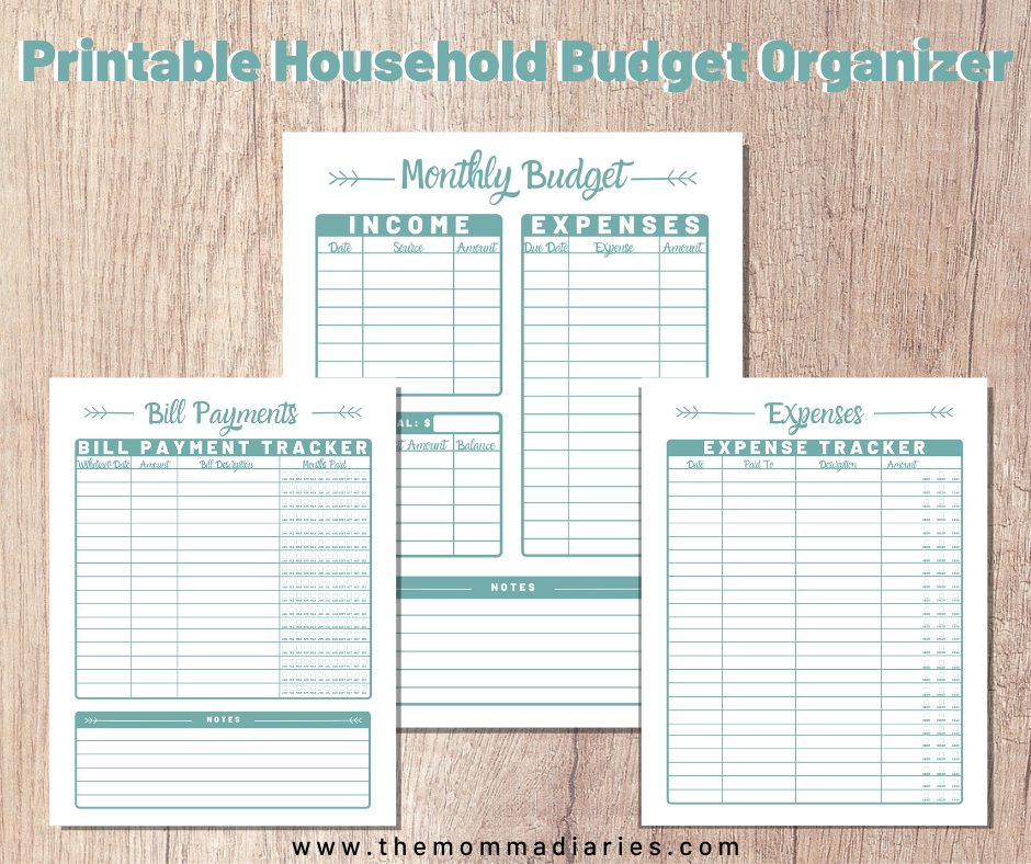 3 page budget organizer