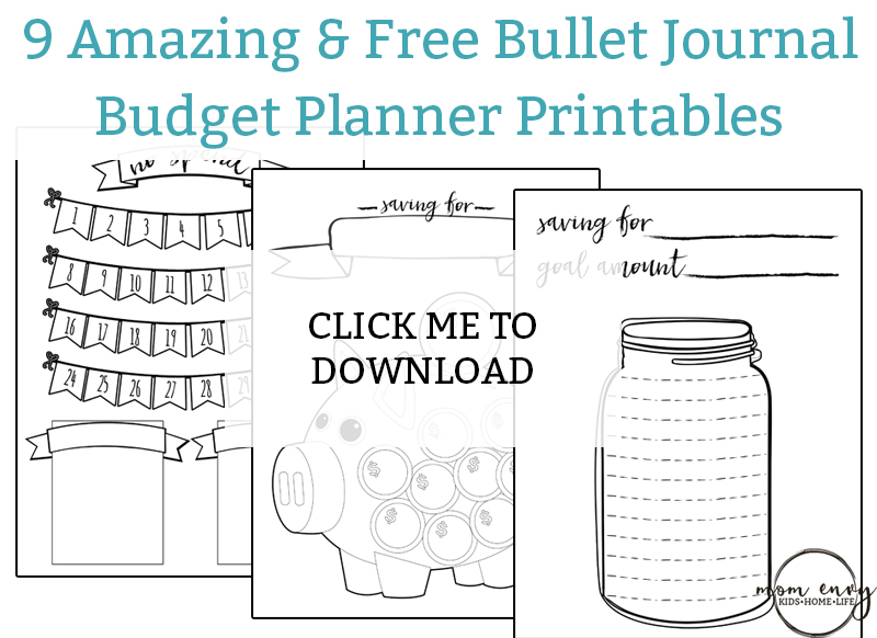 printable bullet journal planner pages