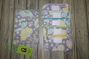 handmade fabric zipper pouches.