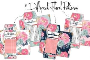 floral printable cash envelopes. so cute and pretty