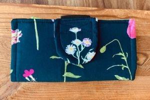 floral handmade cash envelope wallet